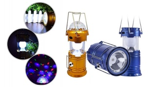 3 in 1 Rechargeable Led Ball Portable Camping Lights - Blue