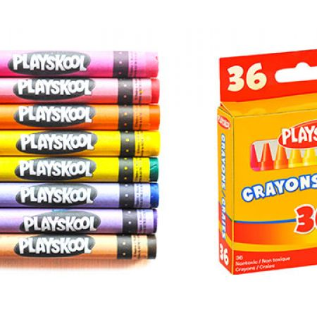 Playskool Bright Colors Crayons 36 Pcs