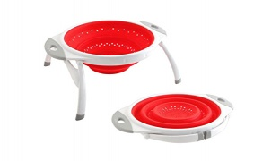 Collapsible Silicone Colander With Legs
