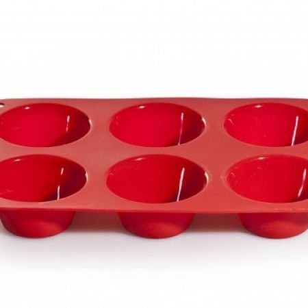 Stokes Red Silicone Mold Muffin Pan