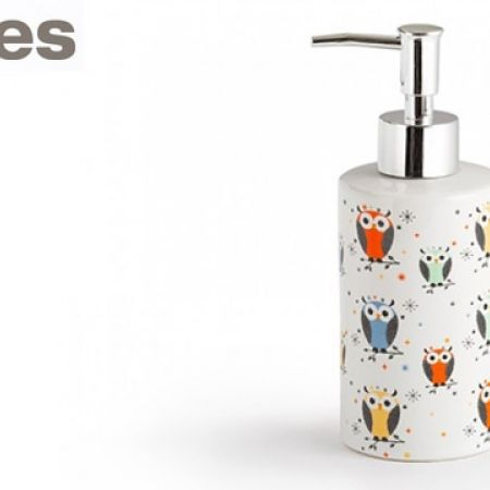 Stokes Multicolor Ceramic Owl Liquid Soap Dispenser