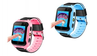 Kids Smart T300 SOS Bluetooth Call Location Anti Lose Tracker Wristwatch - Blue
