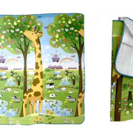 Baby Care Foam Reversible Nature Play Mat 175 x 130 cm