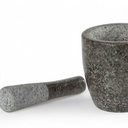 Remy Olivier Granite Mortar & Pestle 12 x 12 cm