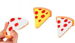 Squishy Soft Foam Sponge Scented Stress Relief Pizza Toy 11 x 9 cm - White