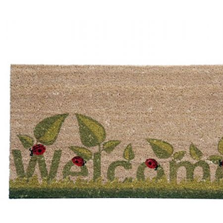 """Home Tex """"Welcome"""" Printed Rubber Entrance Door Mat 75 x 45 cm"""