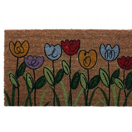 Home Tex Tulip Printed Rubber Entrance Door Mat 75 x 45 cm