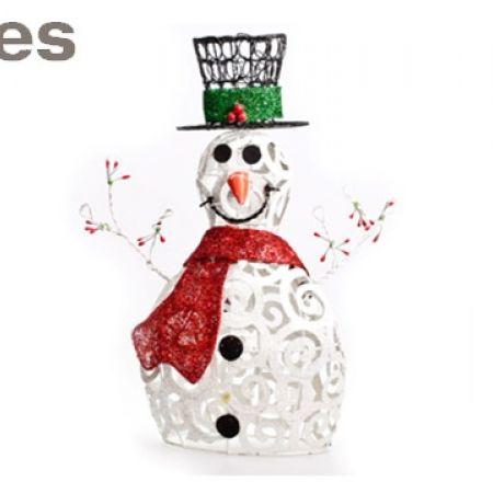"Stokes Glitter Snowman Christmas Decoration 16"""