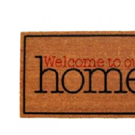 """Home Tex """"WelcomeTo Our Home"""" Design Rubber Entrance Door Mat 75 x 45 cm"""