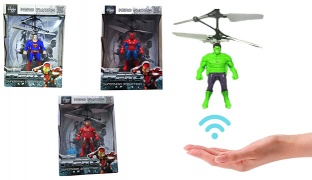 Flying Hero Sensor Control Helicopter With Led Light - Superman