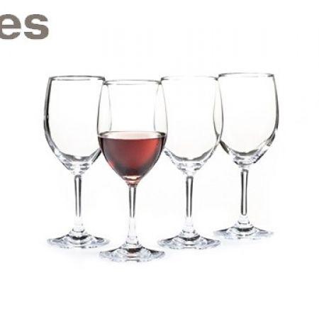 Stokes Set Of Glass Tribeca Red Wine Glasses 4 Pcs