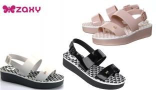 Zaxy Origami Sandals For Women - Black - Size: 37