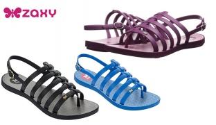 Zaxy Joy Slingback Gladiator Flat Sandals For Women - Blue - Size: 37