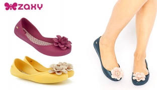 Zaxy Start Flower Ballerina For Women - Size: 37 - Yellow
