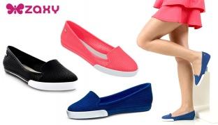 Zaxy City Sap Ballerina For Women - Black - Size: 37
