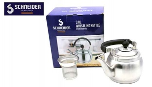 Schneider Stainless Steel Whistling Kettle - 1 L