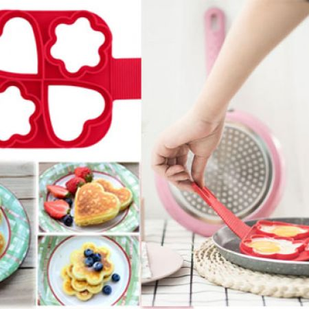 4 In 1 Flipping Fantastic Non Stick Silicone Pancake Mould