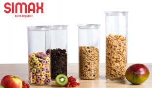 Simax Glass Cylinder Food Storage Container With Plastic Lid - 0.5 L