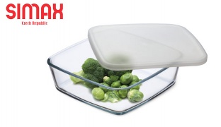 Simax Glass Food Storage With Plastic Lid - 0.5 L