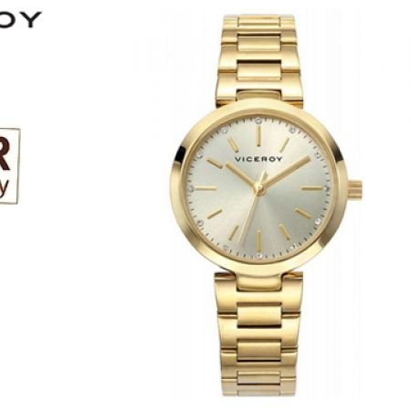 Viceroy Gold Steel 40864-25 Round Dial Watch For Women
