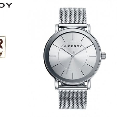 Viceroy Steel Mesh Silver 40989-07 Round Dial Watch For Men