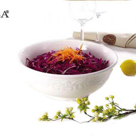 "Casa Linga Round Porcelain Salad Bowl 10.5"""