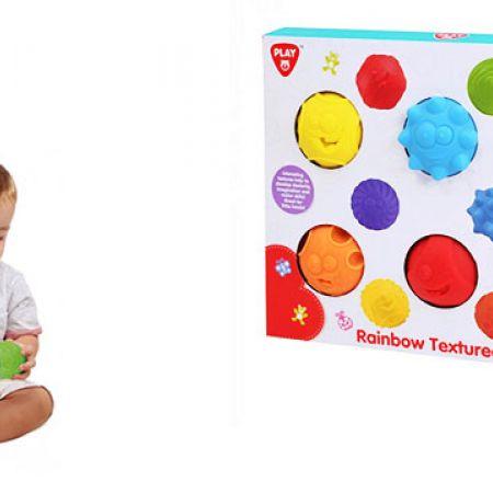 Playgo Rainbow Textured Balls 6 Pcs