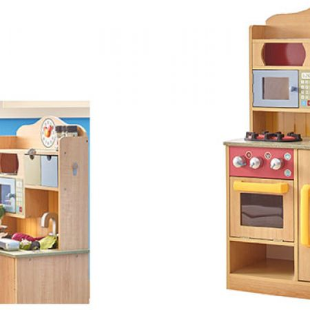 Teamson Little Chef Burlywood Kitchen With Accessories
