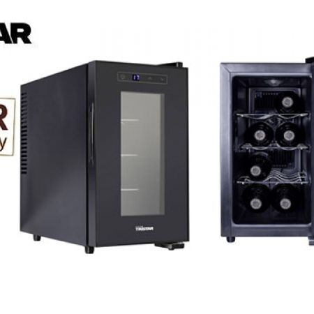 Tristar Wine Cooler Suitable For 8 Bottles Very Low Vibration 52 x 25.4 x 46.5 cm