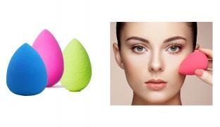 Set Of Makeup Sponge Flawless Beauty Blender 2 Pcs - Blue