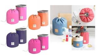 Shallow Grass Travel Dresser Pouch Makeup Organiser 230 x 170 mm - Orange