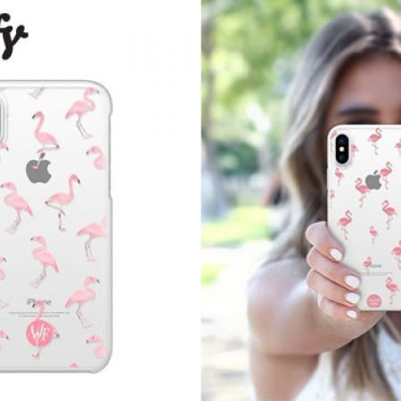 Casetify Snap Case Flamingo Phone Case For iPhone X