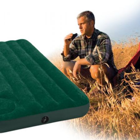 Intex Downy Airbed with Built-in Foot Pump, Twin