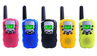 One Pair BF-T3 Portable Walkie Talkie Two Way Radio For Kids - Blue