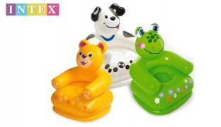 Intex Inflatable Happy Animal Chair 65 x 64 x 74 cm - Teddy Bear