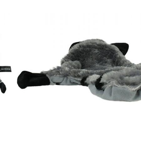 Mascube Plush Raccoon Squeaky Faux Fur Cat Toy