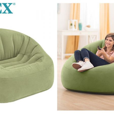 Intex Inflatable Beanless Bag Club Chair 124 x 119 x 76 cm