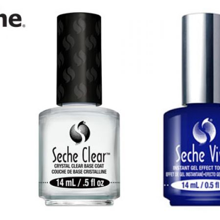 Seche Set Of Seche Vive Top Coat With Free Seche Clear Base Coat