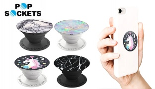 PopSockets Single Marble Stone Expanding Phone Grip & Stand For Smartphones & Tablets - Unicorn Dreams