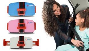 Portable Foldable Travel Pocket Car Booster Cushion Seat - Blue
