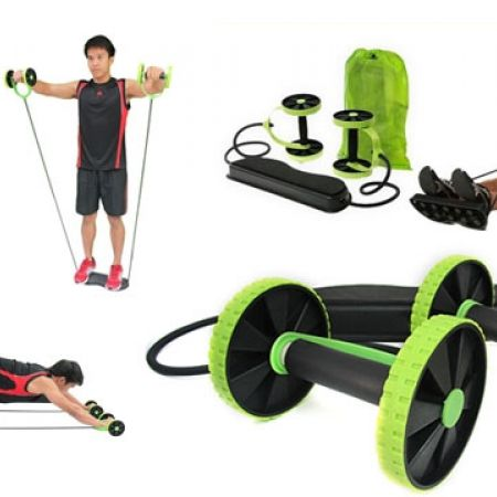 Revoflex Extreme Double Abdominal Wheel Trainer With Carry Bag