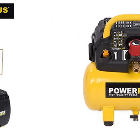 Powerplus POWX1721 Air Compressor 1100W 6L No Oil