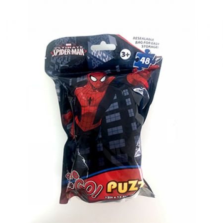 Ultimate Spiderman On The Go Puzzle In A Resealable Bag 48 Pcs