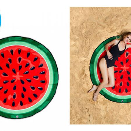 BigMouth Gigantic Watermelon Beach Blanket 5 Feet Wide With Carry Bag