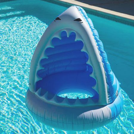 Brand New In The Box Bigmouth Inc Super Chill Shark Beverage Bar Pool Float