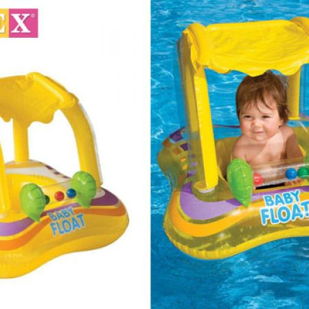 Intex Inflatable Kiddie Float Baby Seat With Sunshade 81 x 66 cm