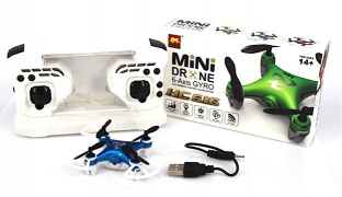Mini Drone RC Quadcopter 6 Axis Gyro Without Camera - Blue