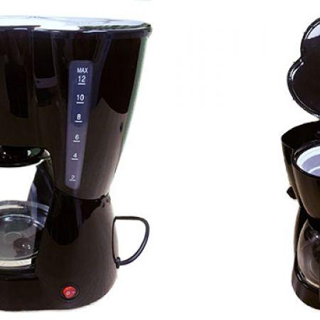 Automatic Electric Black Espresso Coffee Maker 1.5 L 800 W