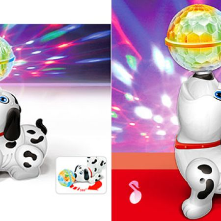 Cute Dancing Dalmatian Dog Toy Crystal Ball With Reflected 3D Lights & Music 20 x 14 cm