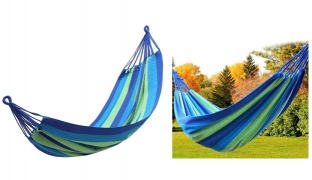 Striped Hammock Hanging Chair With Carry Bag 170 x 75 cm